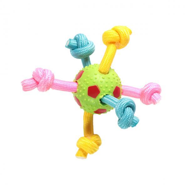 Фигура из мяча и цв.верев.с узлами, 6 см
