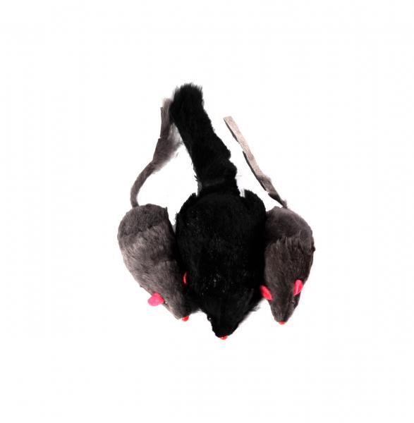 Мышь серая из натурального меха 24 шт