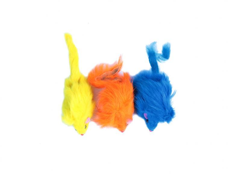 """Мышь 3"""" цветная в пакете 3 шт"""