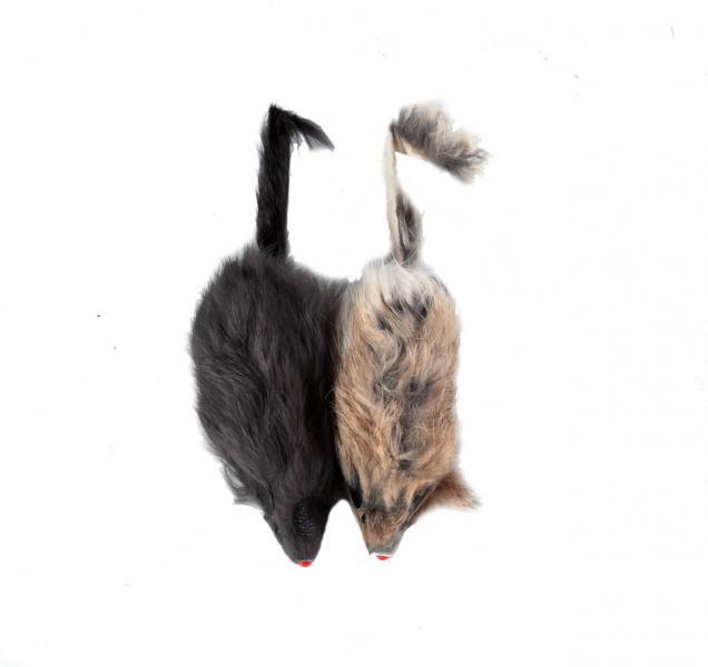 """Мышь 4"""" серая в пакете 2 шт"""