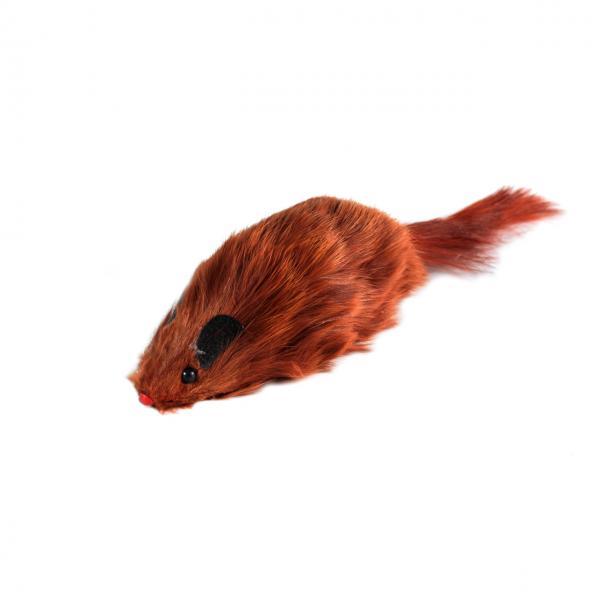 Мышь цветная из натурального меха, упаковка 24 шт
