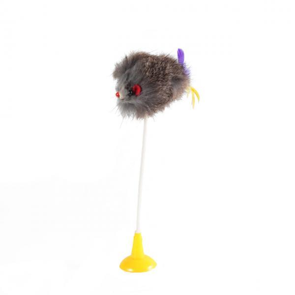 Мышь серая на присоске