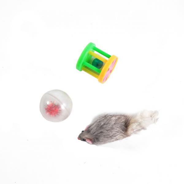 Набор игрушек д/кош (мышь,барабанчик,шар)