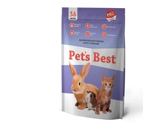 Силикагелевый наполнитель для туалетов котят, щенят, кроликов и грызунов Pet's Best Purple Lavender 3.6л