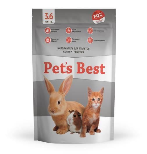 Силикагелевый наполнитель для туалетов котят, щенят, кроликов и грызунов Pet's Best Purple Gray 3.6л