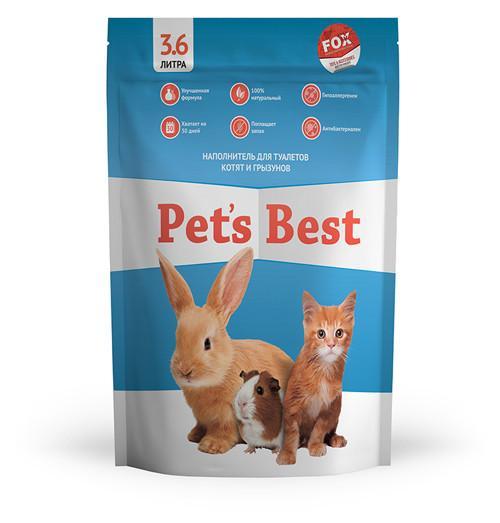 Силикагелевый наполнитель для туалетов котят, щенят, кроликов и грызунов Pet's Best Blue Mint 3.6л
