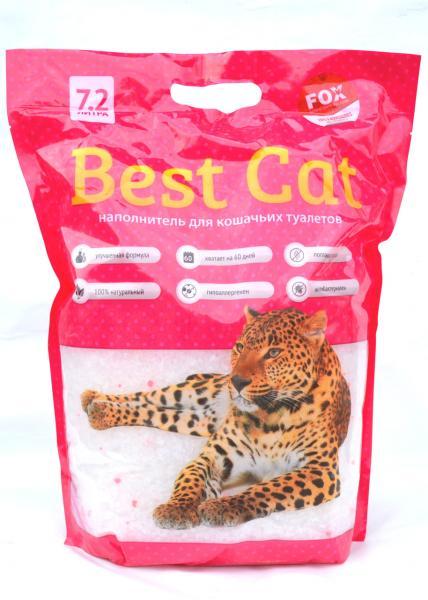"""Силикагелевый наполнитель """"Best Cat""""  Pink Flower 7,2л"""