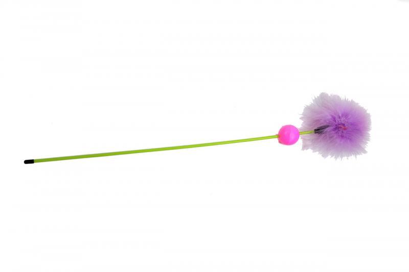 Удочка-дразнилка  с пухом и шариком