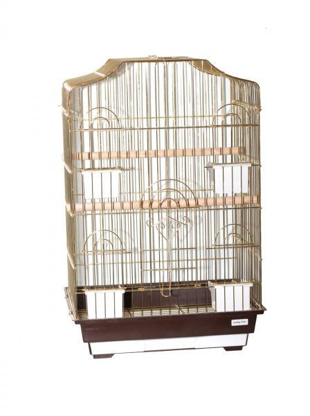 "Клетка для птиц ""Camellia"" золотая 46,5х36х71см"