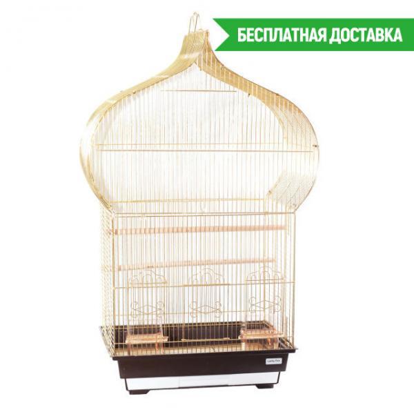 """Клетка для птиц """"Jasmine"""" золотая 46,5х36х88см"""