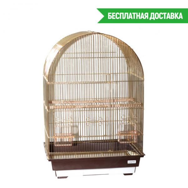 "Клетка для птиц ""Violet"" золотая 46,5х36х56см"
