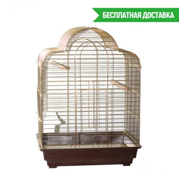 Клетка для птиц Calla золотая 52х41х71см