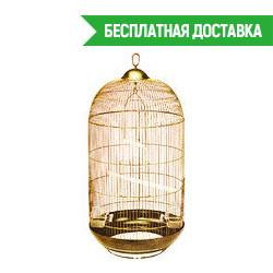 Клетка для птиц Diva золотая d48х84,5см