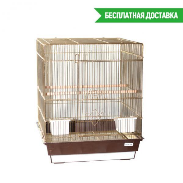 Клетка для птиц Pion золотая 47,5х47,5х56см