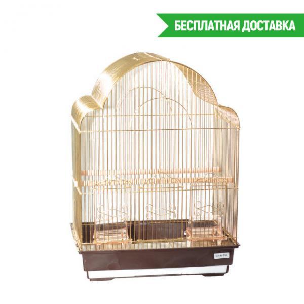 Клетка для птиц Rose золотая 42х30х56см