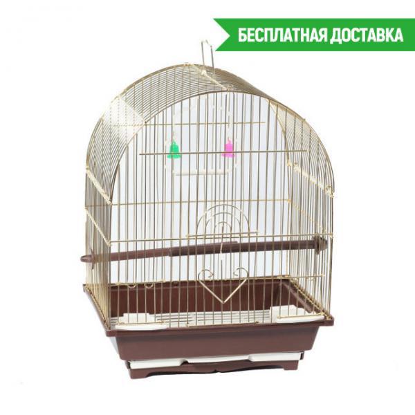 Клетка для птиц золотая 28х22х39см