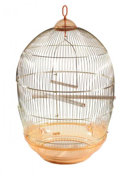 Клетка для птиц Яйцо золотая d48х76,5см