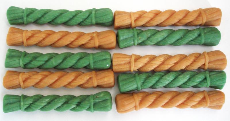 Лакомства - Жевательная щетка MIX XS (зеленый чай, курица), 82 мм, 10*11 г в упаковке