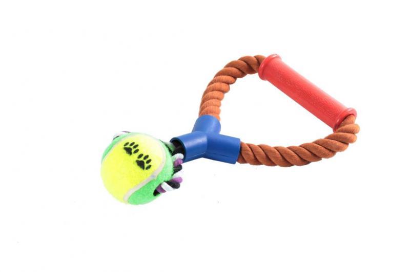 Канат /грейфер/ с петлей и пласт, ручк,-мяч теннис, 10=/60