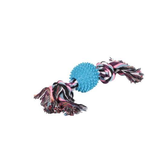 Канат грейфер цветной, двухузловой с мячом с шипами