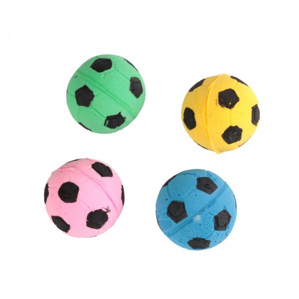 Мяч зефирный футбольный, одноцветный, 4,5 см в тубе 60 шт