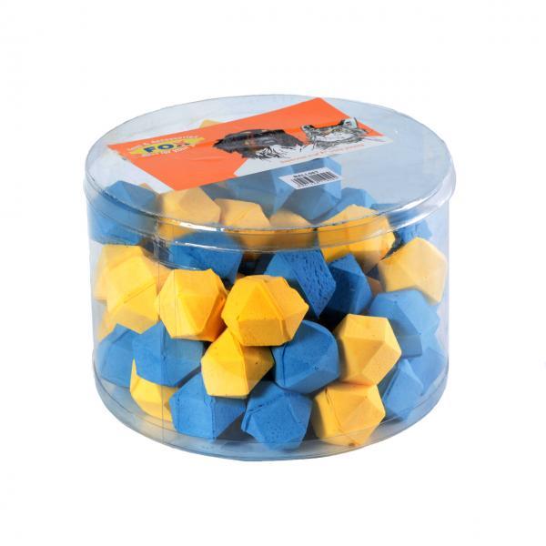 Мяч зефирный многоугольный, одноцветный, 4,5 см в тубе 60 шт/12