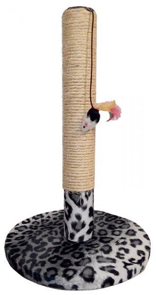 Когтеточка-столбик Снежный барс на круглой подставке сизаль игрушка мышь 30х45 Харьков, Киев, Херсон, Николаев
