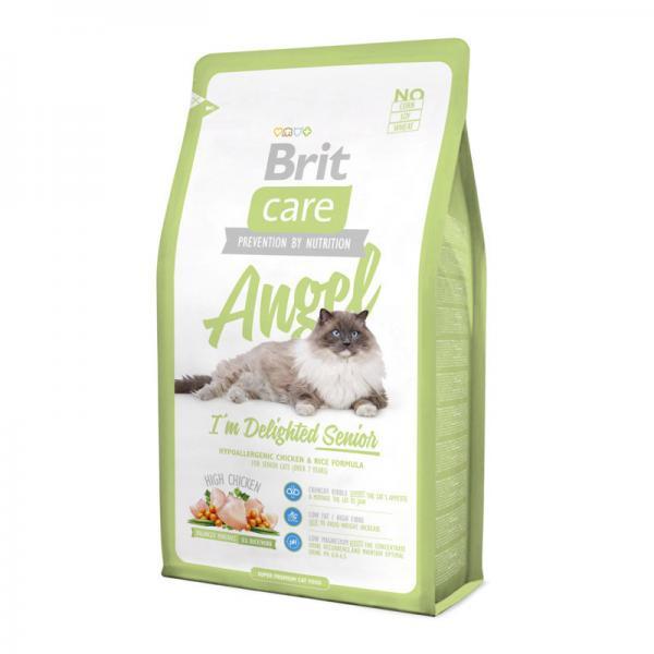Brit Care Cat Angel с курицей и рисом для пожилых кошек, 2 кг