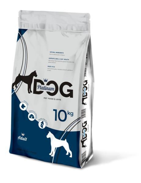PLATINUM DOG ADULT полнорационный корм премиум класса для взрослых собак всех пород, 10 кг.