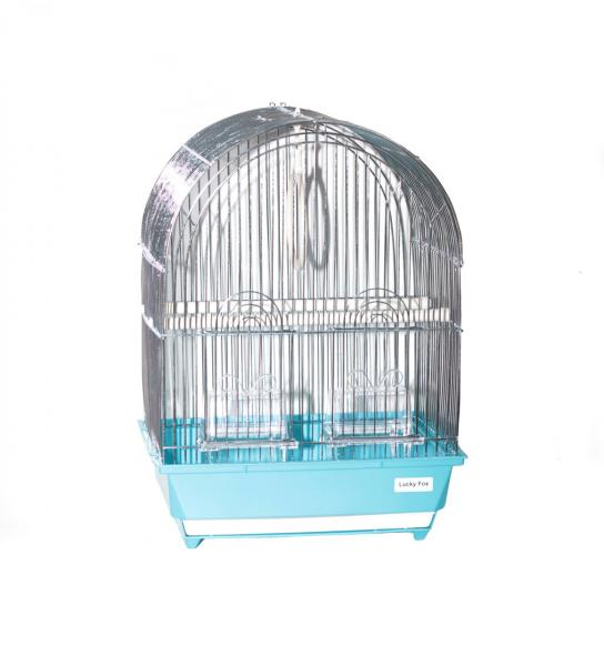 Клетка для птиц Iris 8100Z (цинк) для малых и средних попугаев 32х26х44,5 см