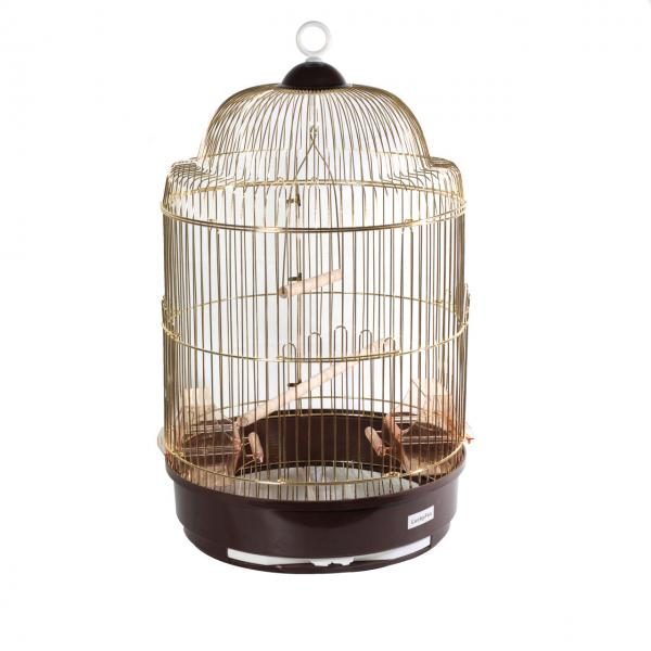 Клетка золотая для птиц круглая, d33х56,5 cm
