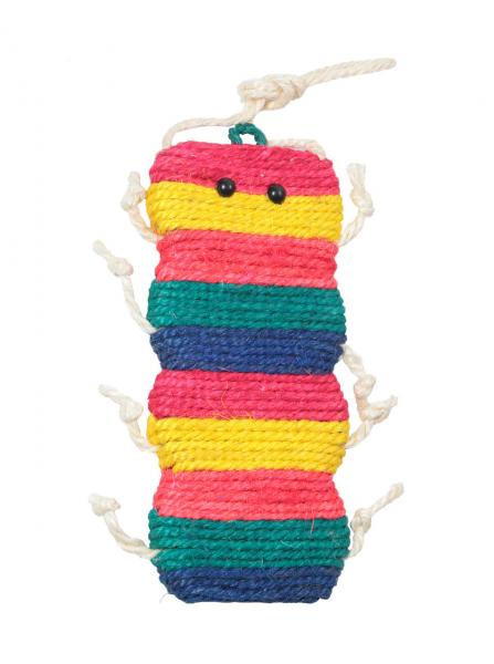Когтеточка на подвесе Гусеница пятицветная, 30 см