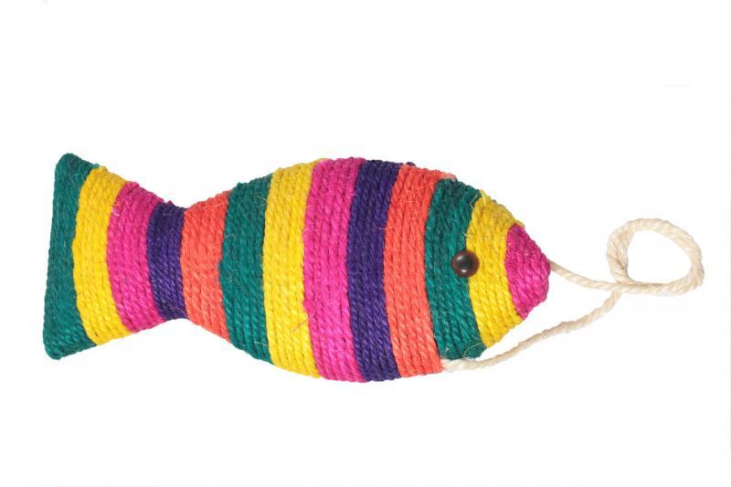 Когтеточка на подвесе Рыбка пятицв, 40 см х24