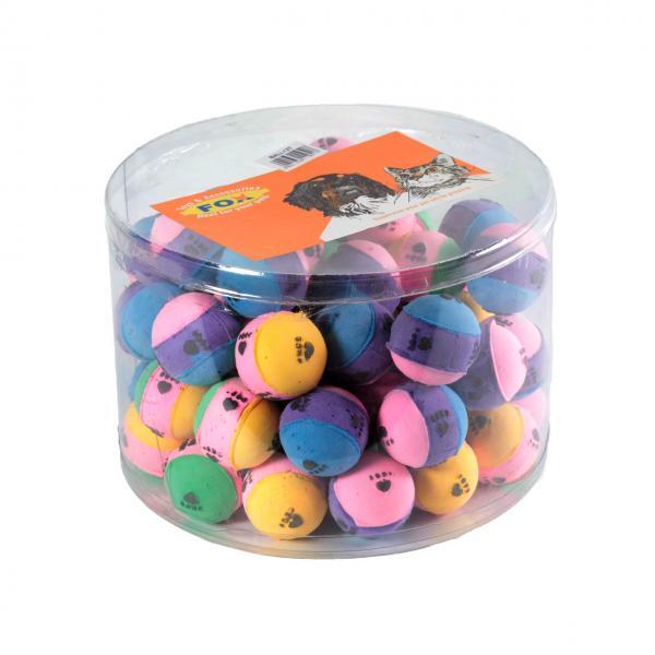 Мяч зефирный лапки трехцв, 4 см в тубе 60 шт
