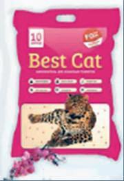 """Силикагелевый наполнитель """"Best Cat"""" Pink Flowers 10л/3"""