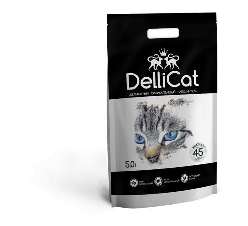 Силикагелевый наполнитель для кошачьих туалетов DelliCat Black 5.0л