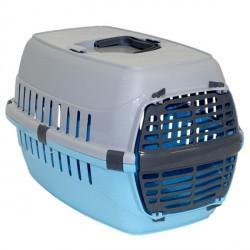 Moderna МОДЕРНА РОУД-РАННЕР 1 переноска для собак и кошек, с металлической дверью, 51х31х34 см, ярко-голубой