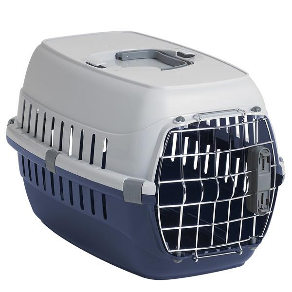 Moderna МОДЕРНА РОУД-РАННЕР 2 переноска для собак с металлической дверью IATA, 58х35х37 см, кобальт синий
