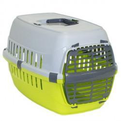 Moderna МОДЕРНА РОУД-РАННЕР 1 переноска для собак и кошек, с пластиковой дверью, 51х31х34 см, ярко-зеленый