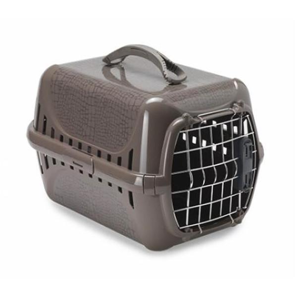 Moderna Trendy Runner Wild Life IATA МОДЕРНА ТРЕНДИ-РАННЕР переноска для кошек c металлической дверцей и замком IATA, коричневый, дизайн Дикий Мир,