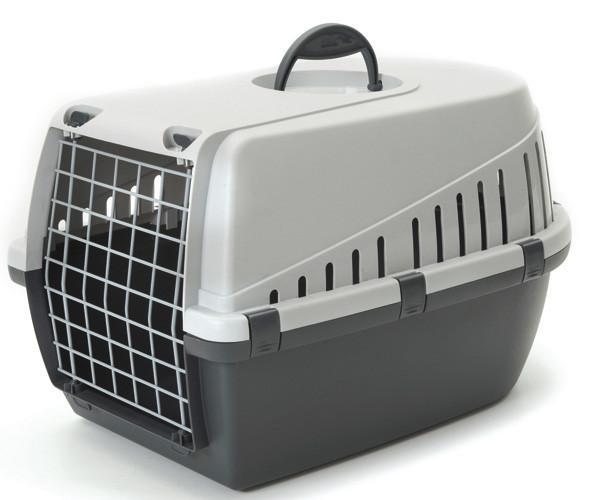Savic ТРОТТЭР1 (Trotter1) переноска для собак и котов, пластик, черный, 49Х33Х30 см