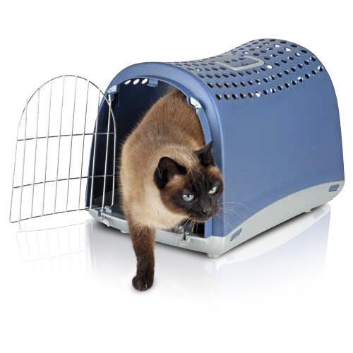 Imac Linus АЙМАК ЛИНУС переноска для собак и кошек, пластик, синий, 50х32х34,5 см.