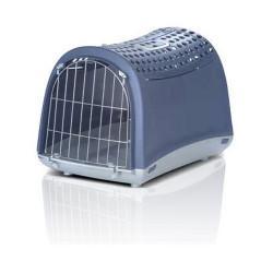 Imac Linus Cabrio АЙМАК ЛИНУС КАБРИО переноска для собак и кошек, пластик, синий, 50х32х34,5 см