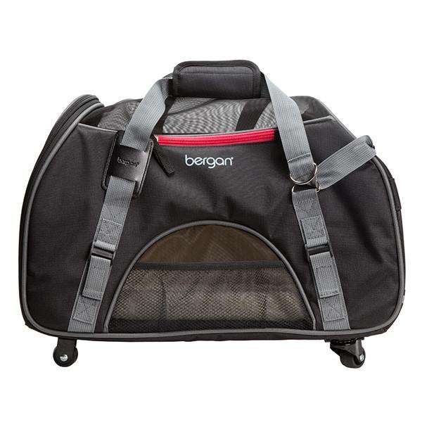 Bergan Wheeled Comfort Carrier сумка переноска на колесах для собак и котов, серый