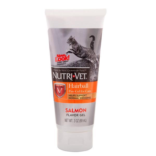 Nutri-Vet Hairball Salmon flavor ВЫВЕДЕНИЕ ШЕРСТИ ГЕЛЬ С ЛОСОСЕМ витаминная добавка для кошек, гель, 89 мл