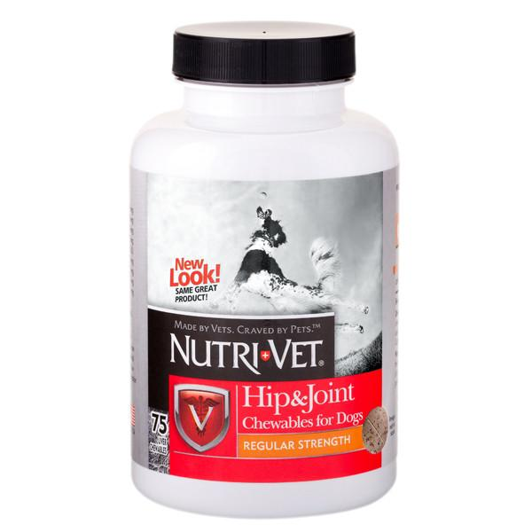 Nutri-Vet Hip&Joint Regular НУТРИ-ВЕТ СВЯЗКИ И СУСТАВЫ РЕГУЛЯР, 1 уровень, хондроитин и глюкозамин для собак, 180 табл.