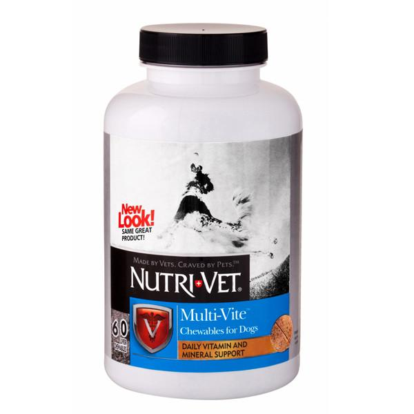 Nutri-Vet Multi-Vite НУТРИ-ВЕТ МУЛЬТИ-ВИТ комплекс витаминов и минералов для собак, жевательные таблетки 120шт