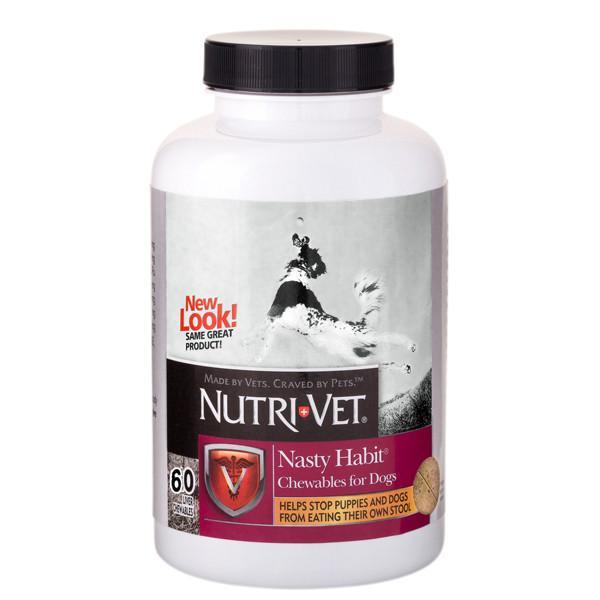 Nutri-Vet Nasty Habit НУТРИ-ВЕТ ОТ ПОЕДАНИЯ ЭКСКРЕМЕНТОВ добавка для собак и щенков, 60 табл.