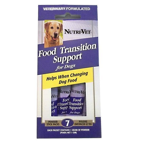 Nutri-Vet Food Transition Support НУТРИ-ВЕТ ПОМОЩЬ ПРИ СМЕНЕ КОРМА добавка для собак с пребиотиками и полезными бактериями, порошок, стик (1 г)
