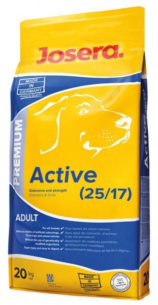 JOSERA Active 25/17 корм для взрослых и молодых собак с высоким уровнем нагрузки, 20 кг